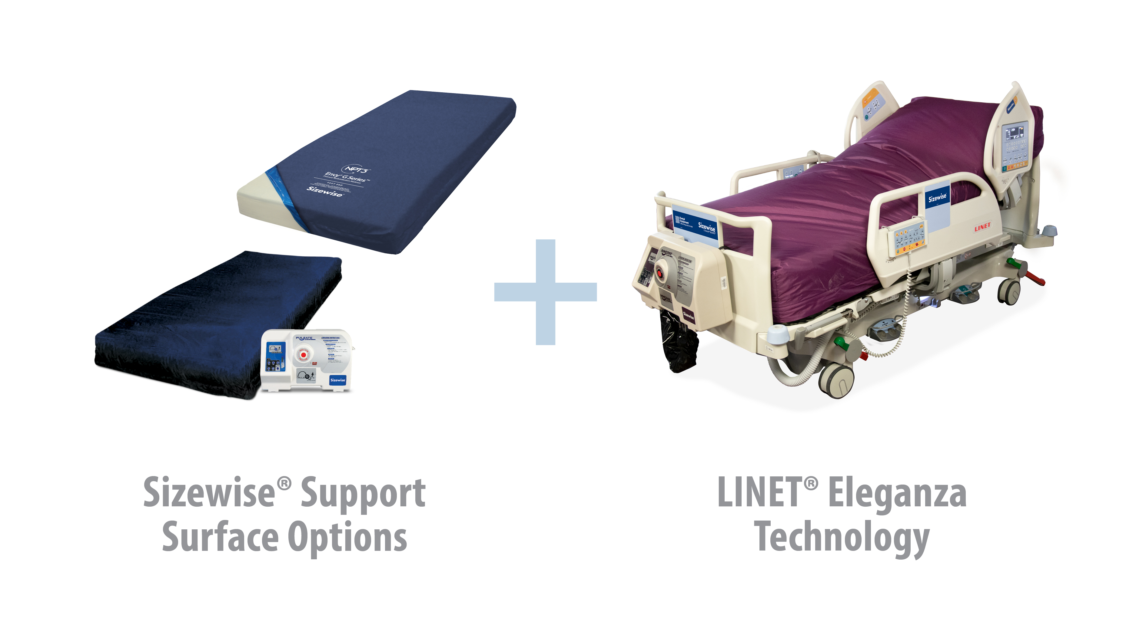 A cross-manufacturing agreement provides the best of both worlds: Sizewise® surface options and LINET® bed frames.
